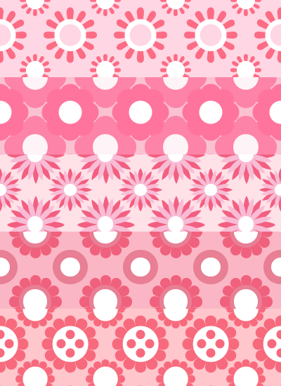 Pink Flower Patterns