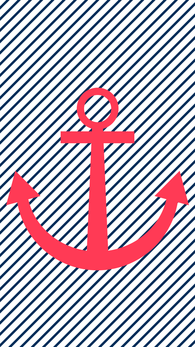 Anchor phone wallpapers - Striped anchor wallpaper