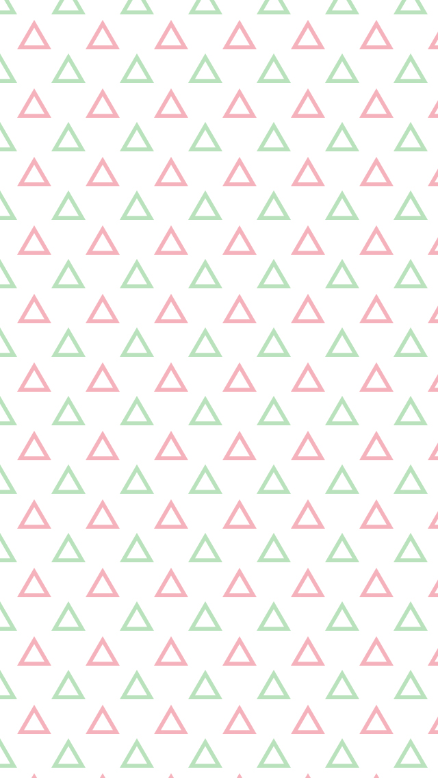 Cute phone wallpapers - Triangle patterned wallpaper