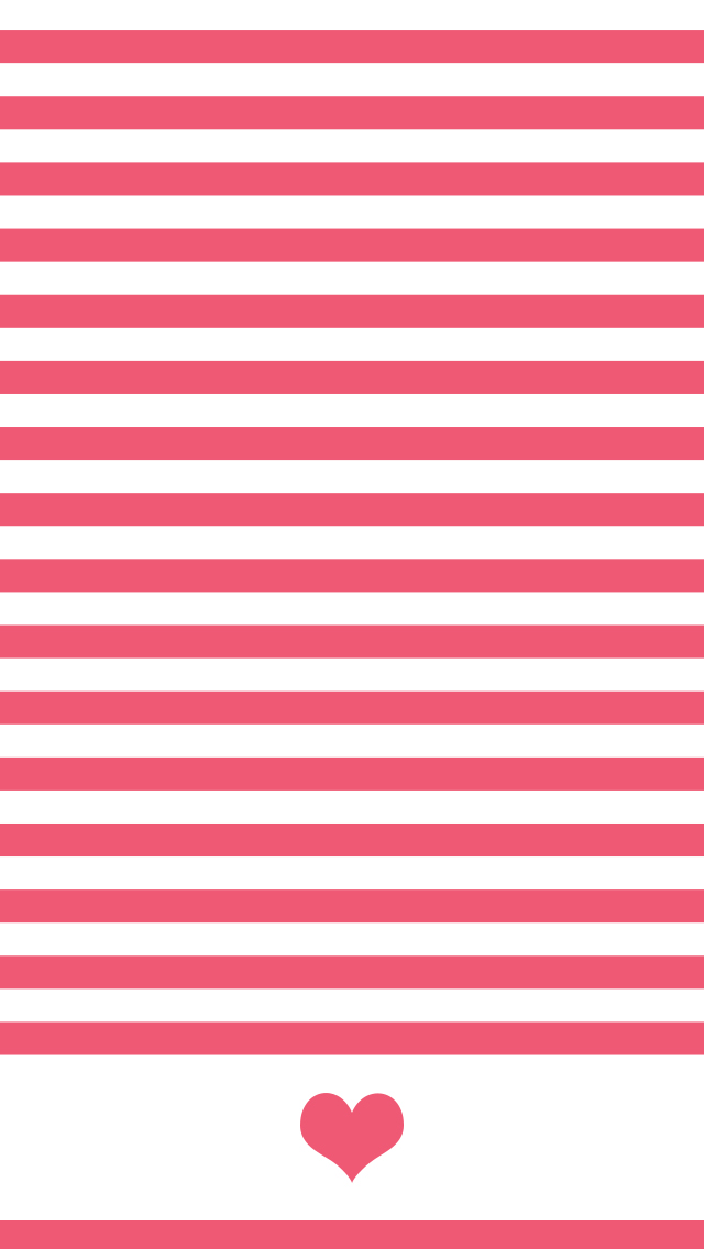 Striped heart wallpaper