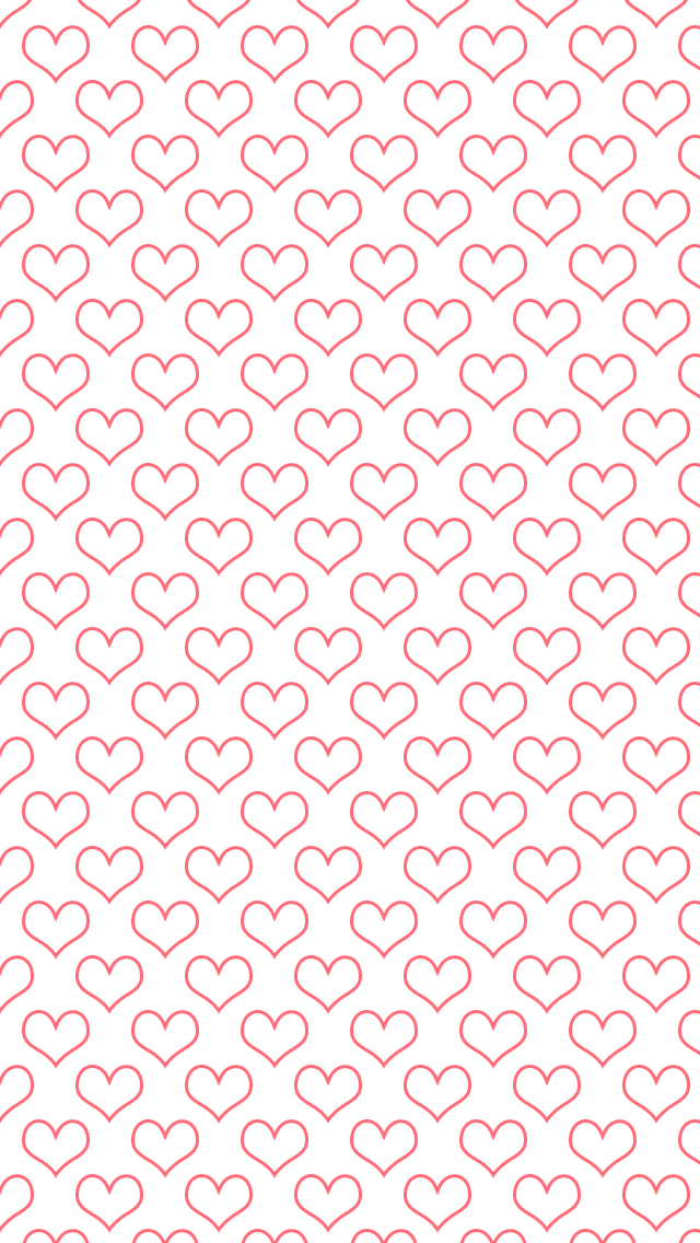Heart patterned wallpaper